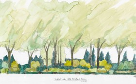 morven garden watercolor